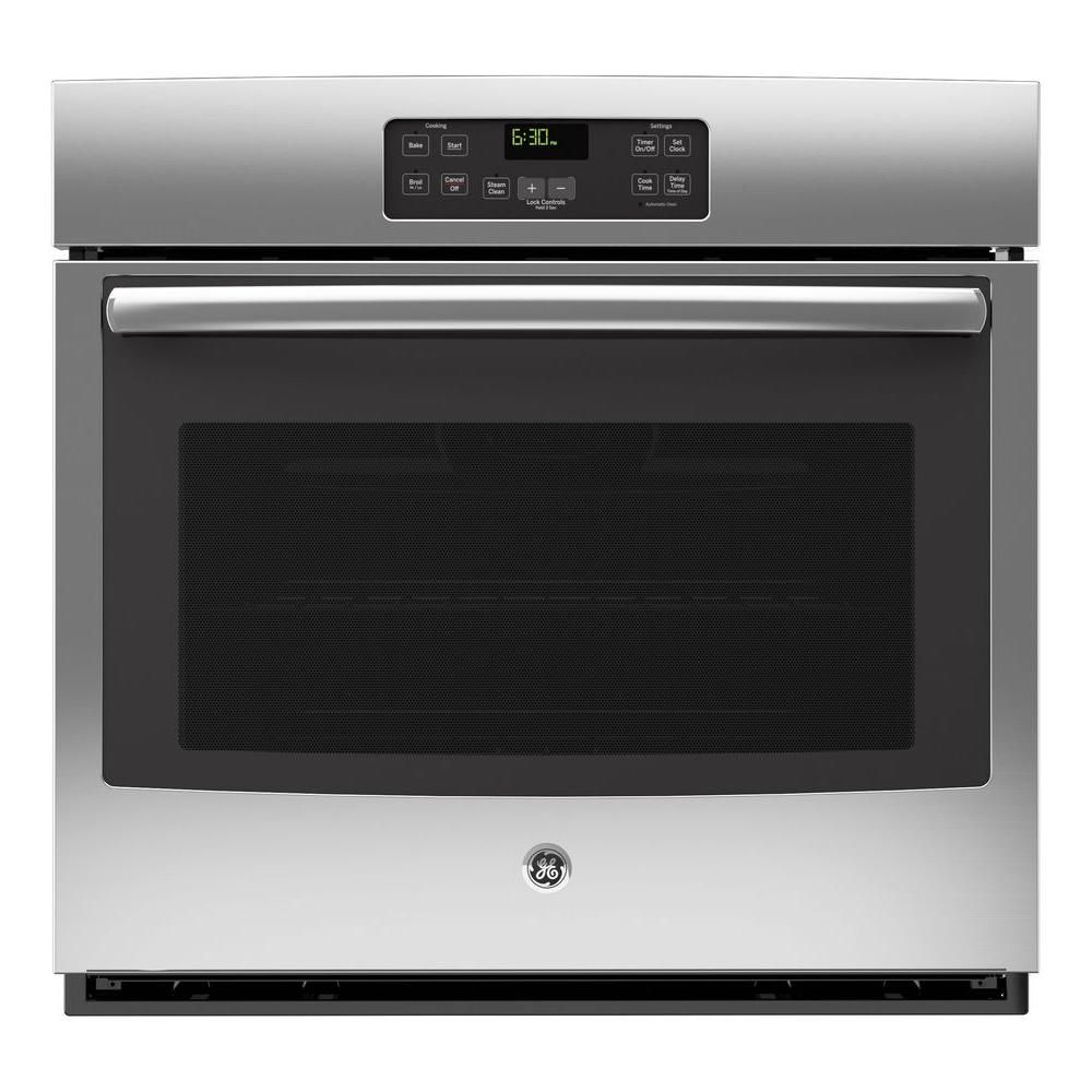 Ge 30 In Single Electric Wall Oven Standard Cleaning With Steam