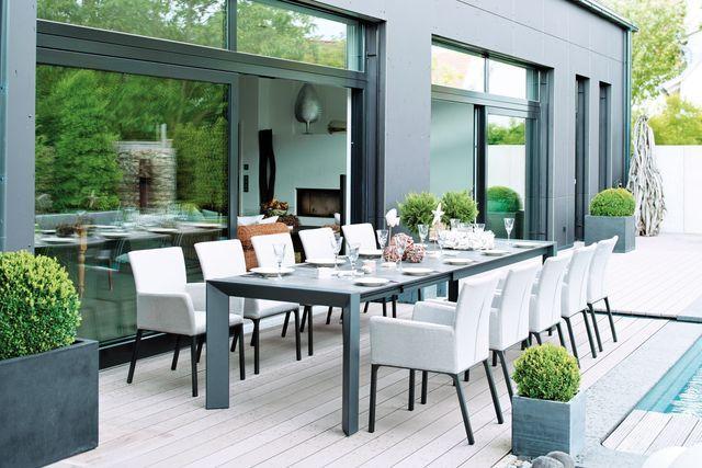 Terrassenmöbel modern  Outdoor Living! Lamellendach für die Terrasse ...