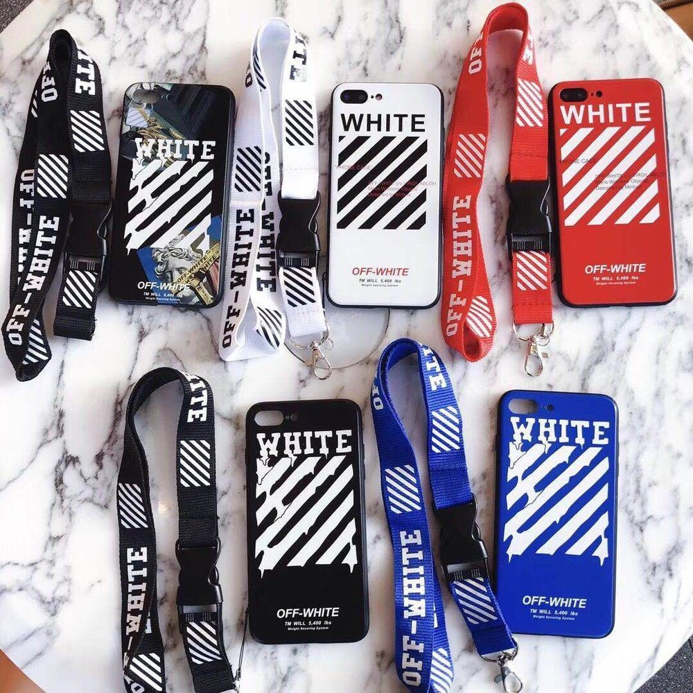 pick up e68aa 29058 Details about OFF WHITE Case Soft TPU New Shockproof Cover Lanyard ...