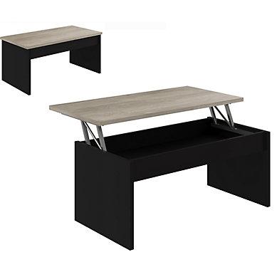 table basse plateau relevable yana noir