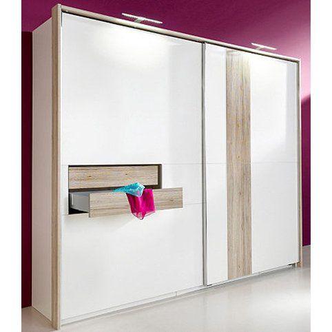 Armoire dressing penderie lingère 2 portes coulissantes 2 tiroirs 3 - mettre des portes coulissantes