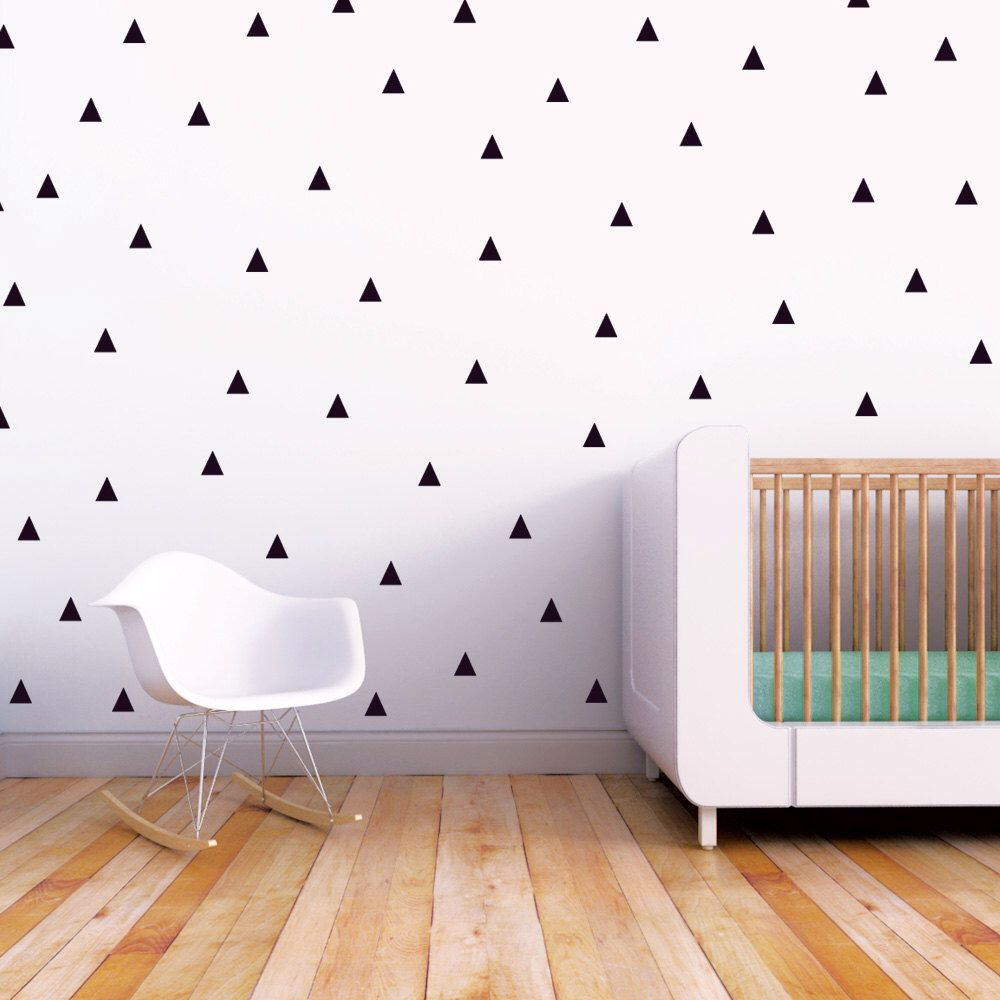 Wall Decal Black Triangle Baby Nursery Kids Modern Little Peaks Children By Trendypeasdecals On Etsy