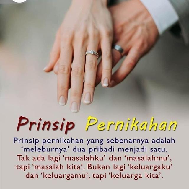 Prinsip pernikahan yang sebenarnya adalah 'meleburnya' dua ...
