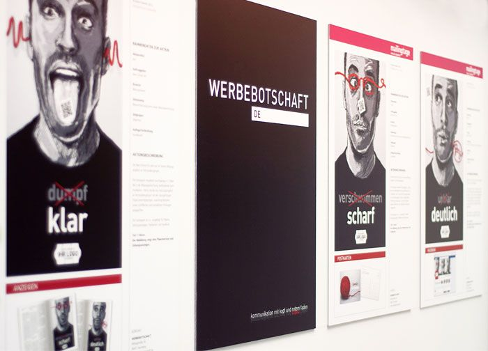 """Illustrations-Serie für den Messestand der Nürnberger Agentur """"Werbebotschaft"""""""