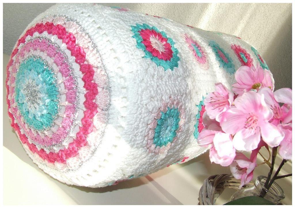Almohadon Caramelo Al Crochet - Tejidos Artesanales - $ 350,00 en ...