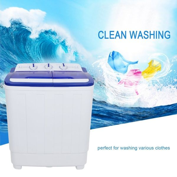Mini Portable Compact Twin Tub 16lbs Washing Machine And Washer Spin Cycle W Hose Mini Washing Machine Washing Machine Portable Washing Machine