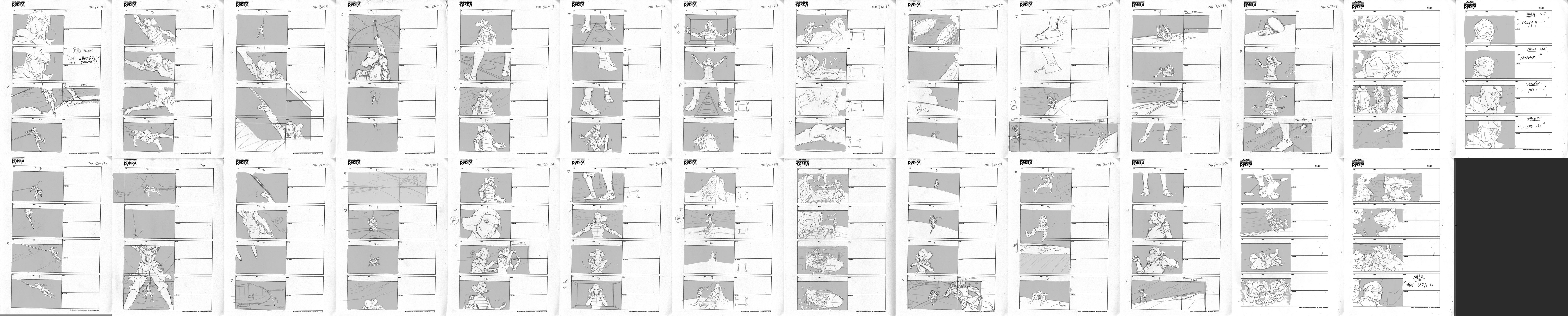 Legend Of Korra Turning The Tides Storyboards By Leseanthomas