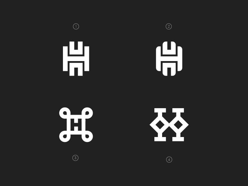 H Monogram Exploration H Monogram Typography Logo Inspiration H Logos