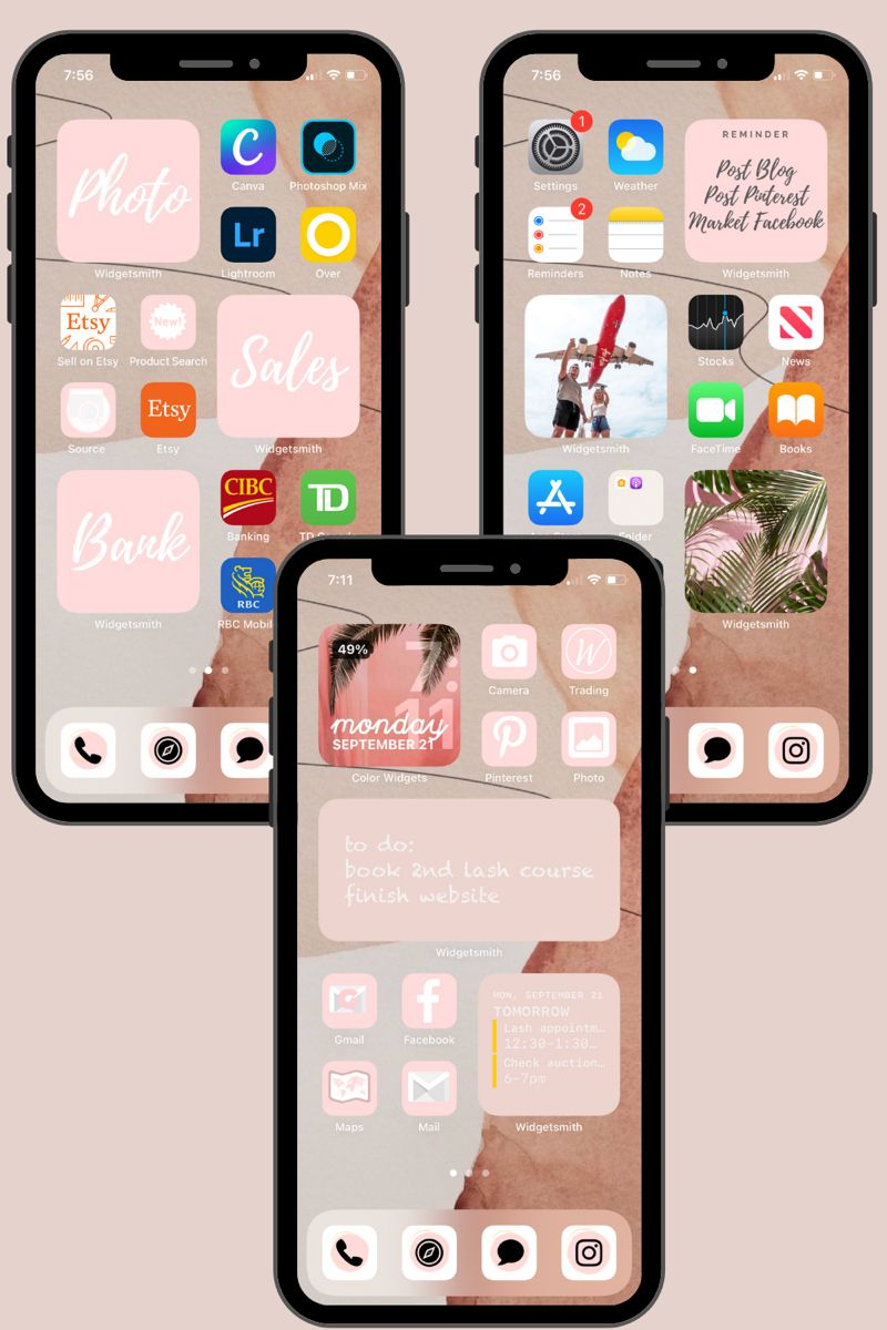 100 Customize Home Screen Ios 14 Update App Icon Photo Cover Etsy In 2020 Iphone App Layout Homescreen Homescreen Iphone