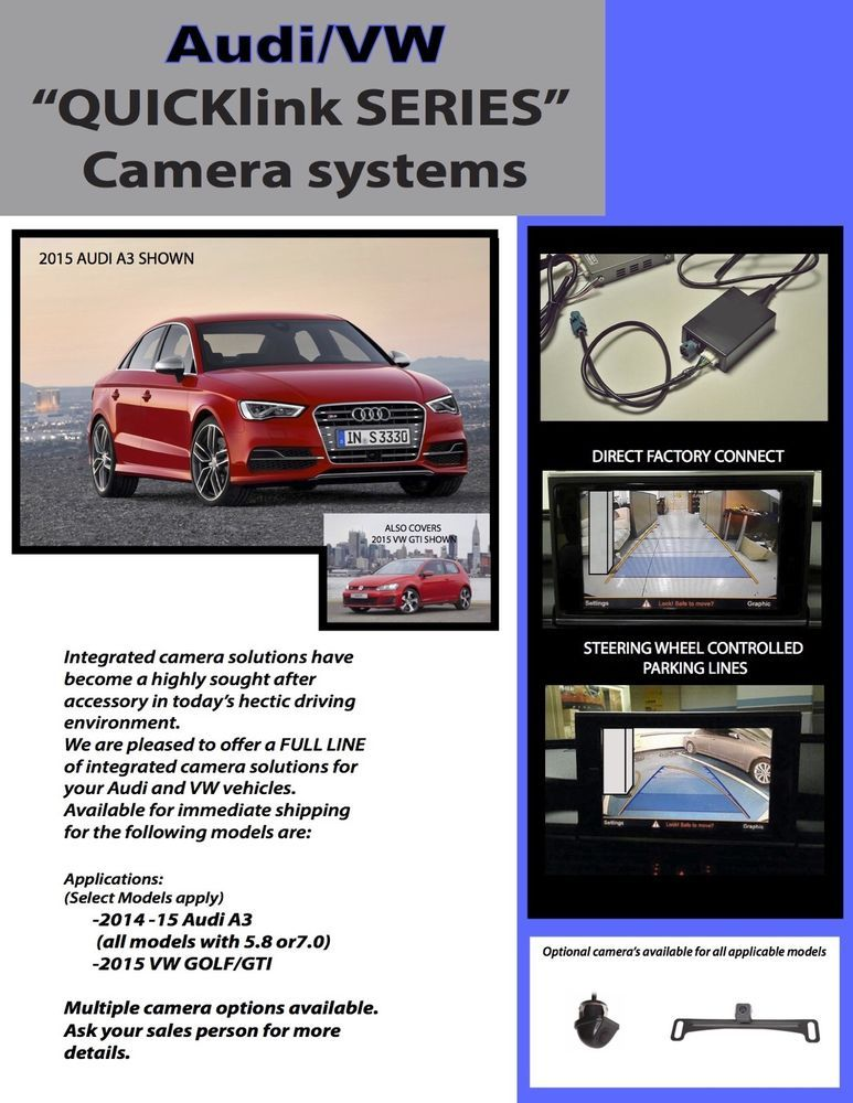 PLUGandGO Integrated Backup Camera Safety System for AUDI Q5 Q7 2009 ...