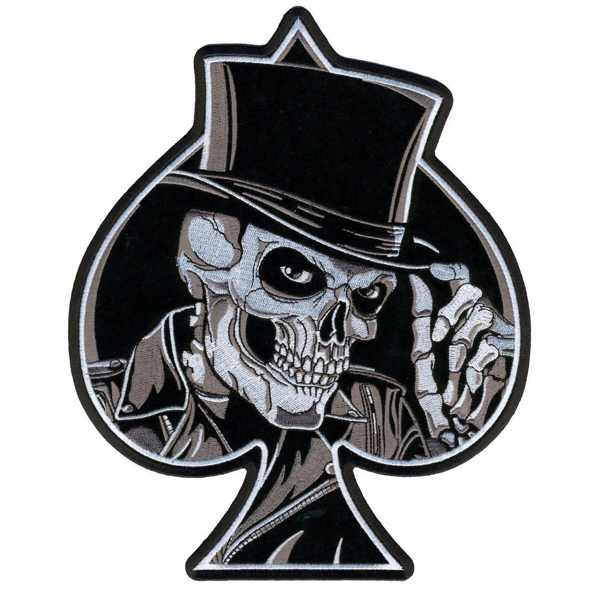 Top Hat Skull Embroidered Hook Back Patch 4 Skull Skull Patch Skull Art