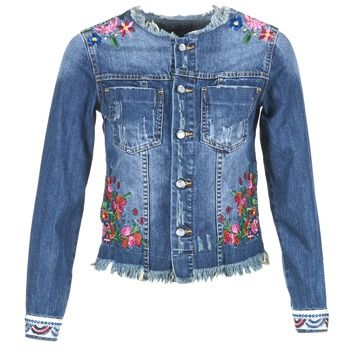 57e2cea9ed15 Adoptez sans attendre cette veste en jean Desigual. Composition en coton et  couleur bleue