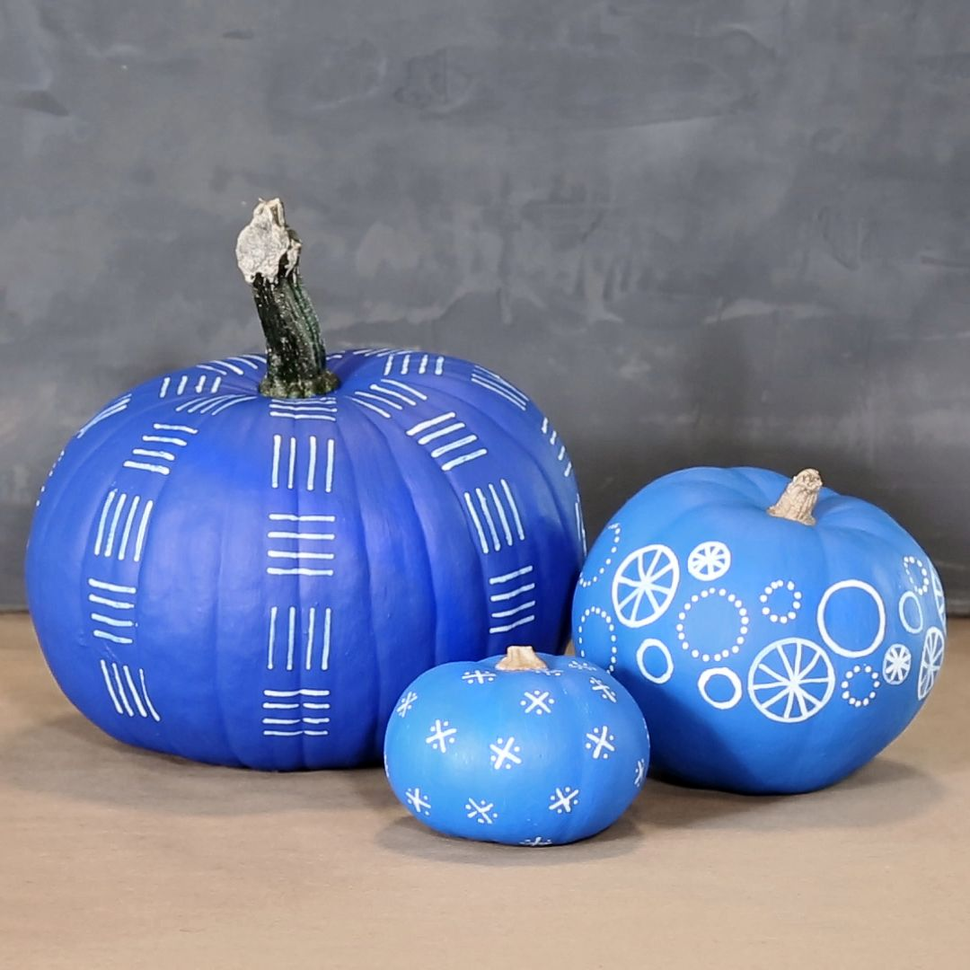 Decorate for fall with this stylish and easy no-carve pumpkin technique.