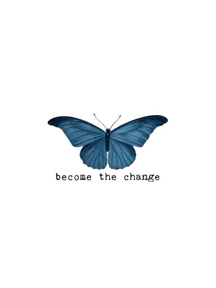 Blue Butterfly - Become The Change iPhone Case & C