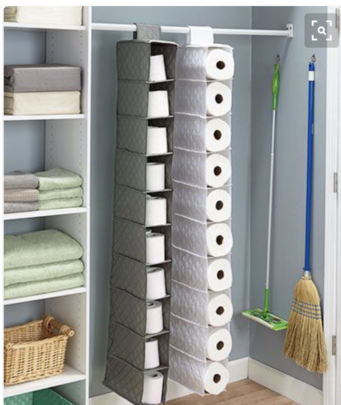 Covered Toilet Paper Storage Bulk Paper Towel Or Tp Storage Idea Household Tips