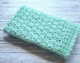 Crochet Baby Blanket Christening Baby Blanket White Baby Afghan