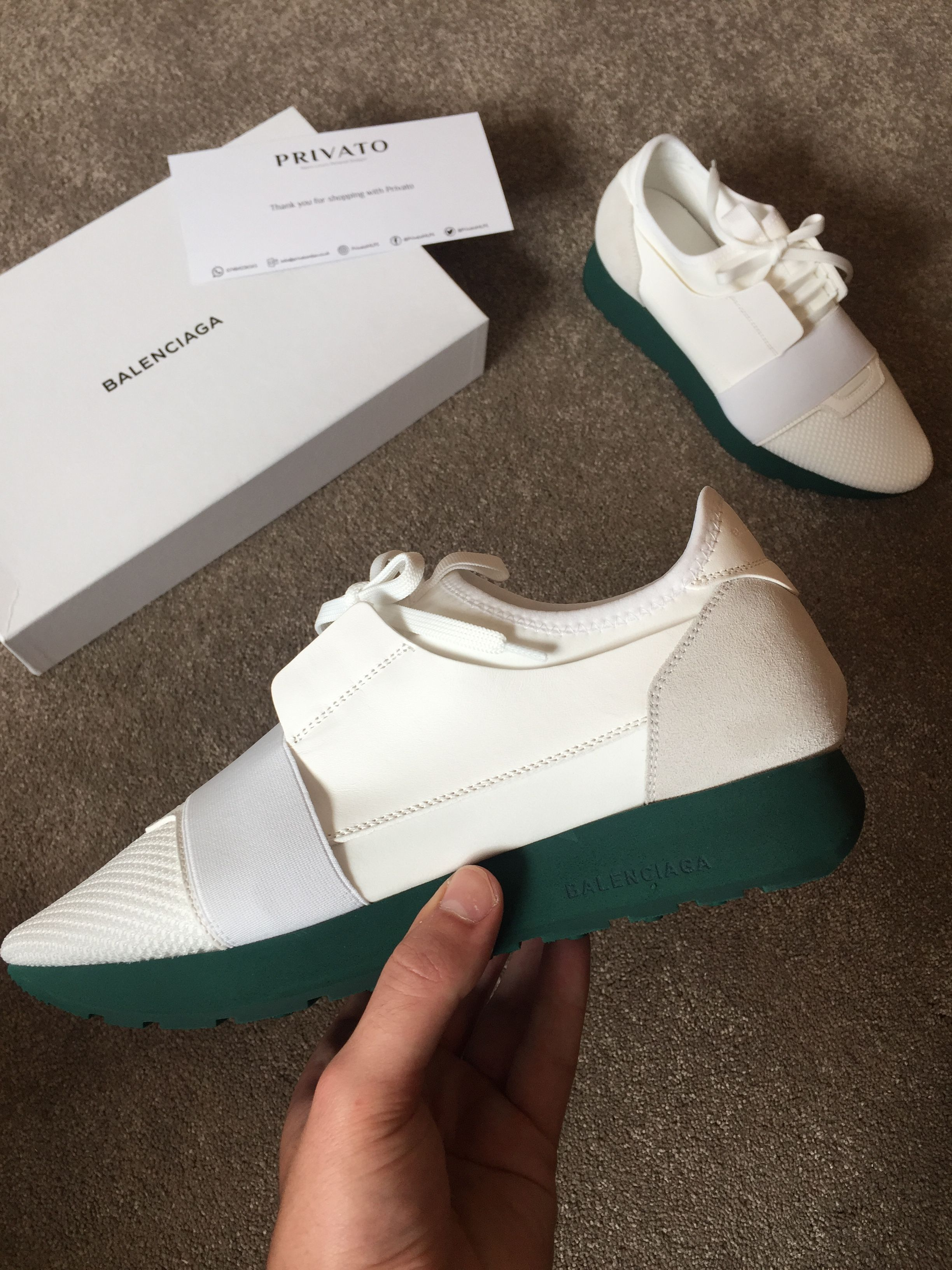 quality design discount sale timeless design Balenciaga Race Runners! Colour: White with Green sole Sizes ...
