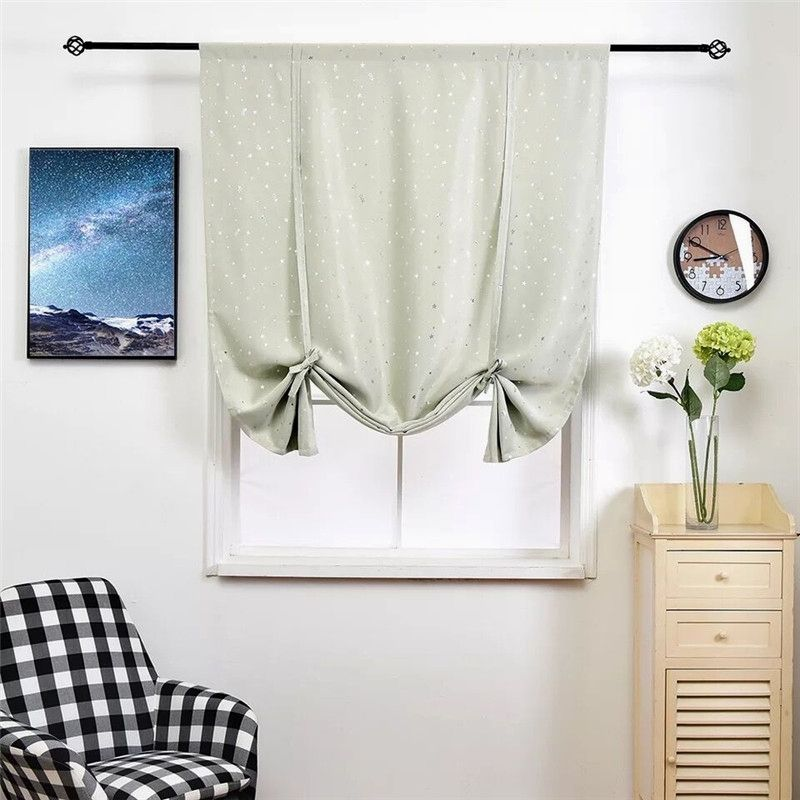 Xyzls Thermal Insulated Blackout Curtain Stars Design Tie Up Shade For Small Wind Insulated Blackout Curtains Tie Up Shades Thermal Insulated Blackout Curtains