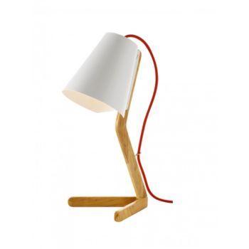 lampe à poser h. 43 cm blanc/naturel FLY   Home Sweet Home ...