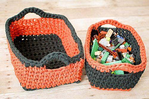 Ravelry Rectangular Nesting Baskets Pattern By Kara Gunza