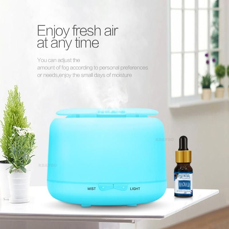Zzrp Humidifier Ultrasonic Air Humidifier Aroma Essential Oil Diffuser for Home Car USB Fogger Mist Maker with LED Night Lamp