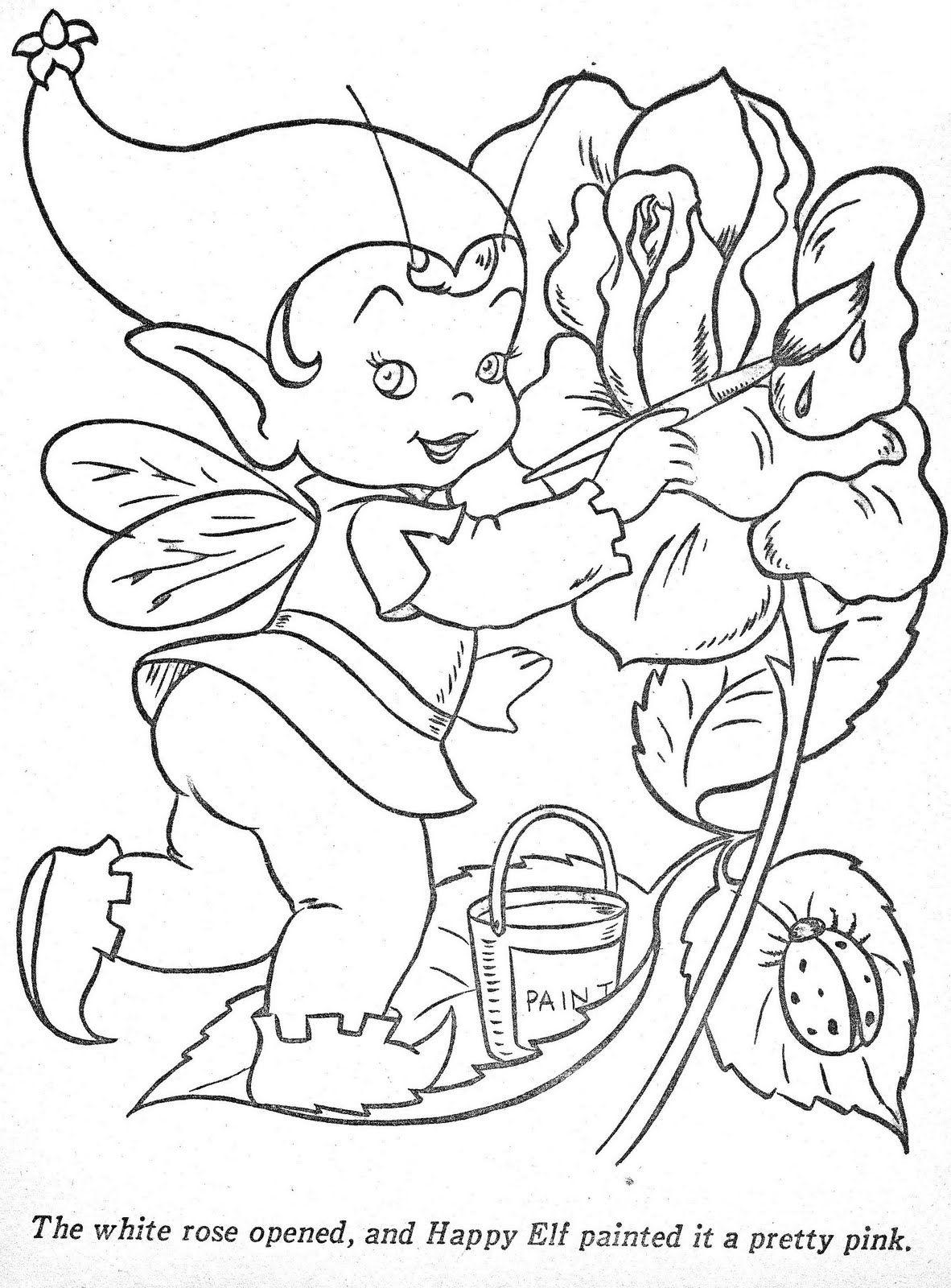 Coloring Pages: Happy Elf | elves & fairies | Pinterest | Elves ...