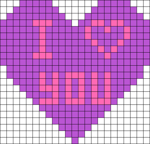 I Love You Heart Perler Bead Pattern / Bead Sprite | Projects to Try ...