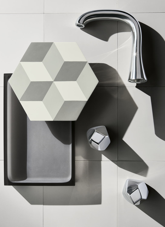 Isla High Profile Lavatory Faucet with Metal Geode Handles | ISLA ...