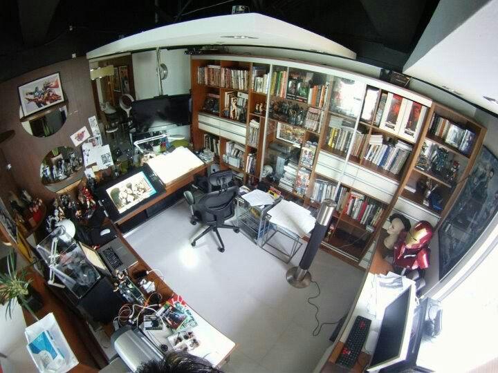 Studio Space Of Comic Superstar Leinil Francis Yu