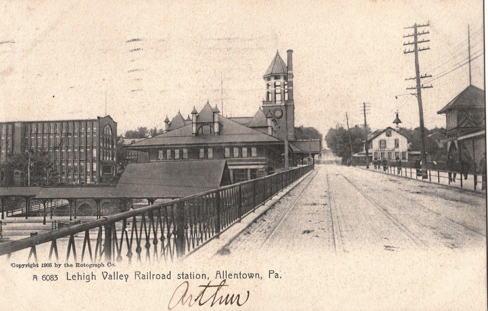 Lehigh Valley Railroad Train Station In Allentown Pa 1911 Lehigh Valley Railroad Station Train Station