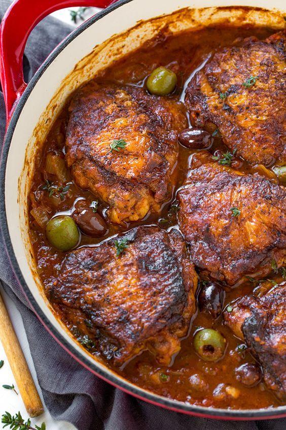 Braised Chicken Thighs | Recipe | Braised chicken thighs ...
