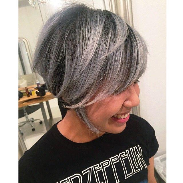 Redken Shades Eq Chrome On Natural Grey Hair