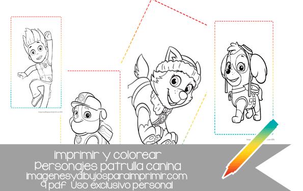 ahora puedes colorear a los personajes de patrulla canina en ...