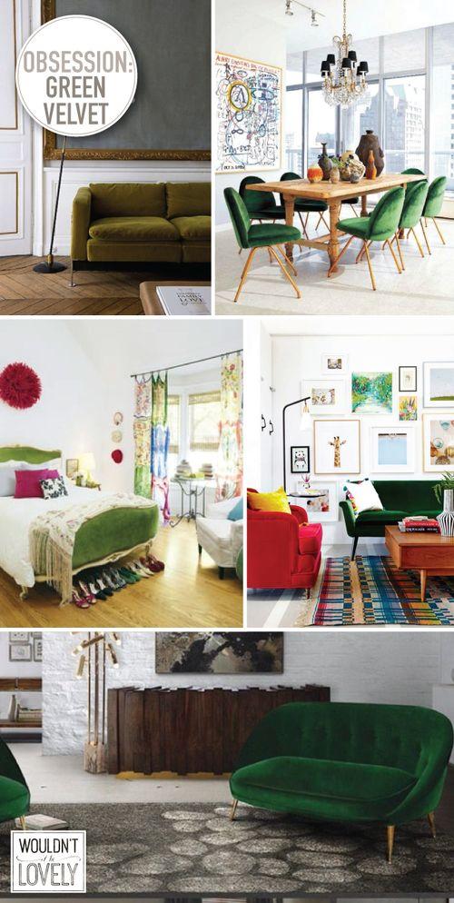 home trend furniture. Home Trend: Green Velvet Trend Furniture S