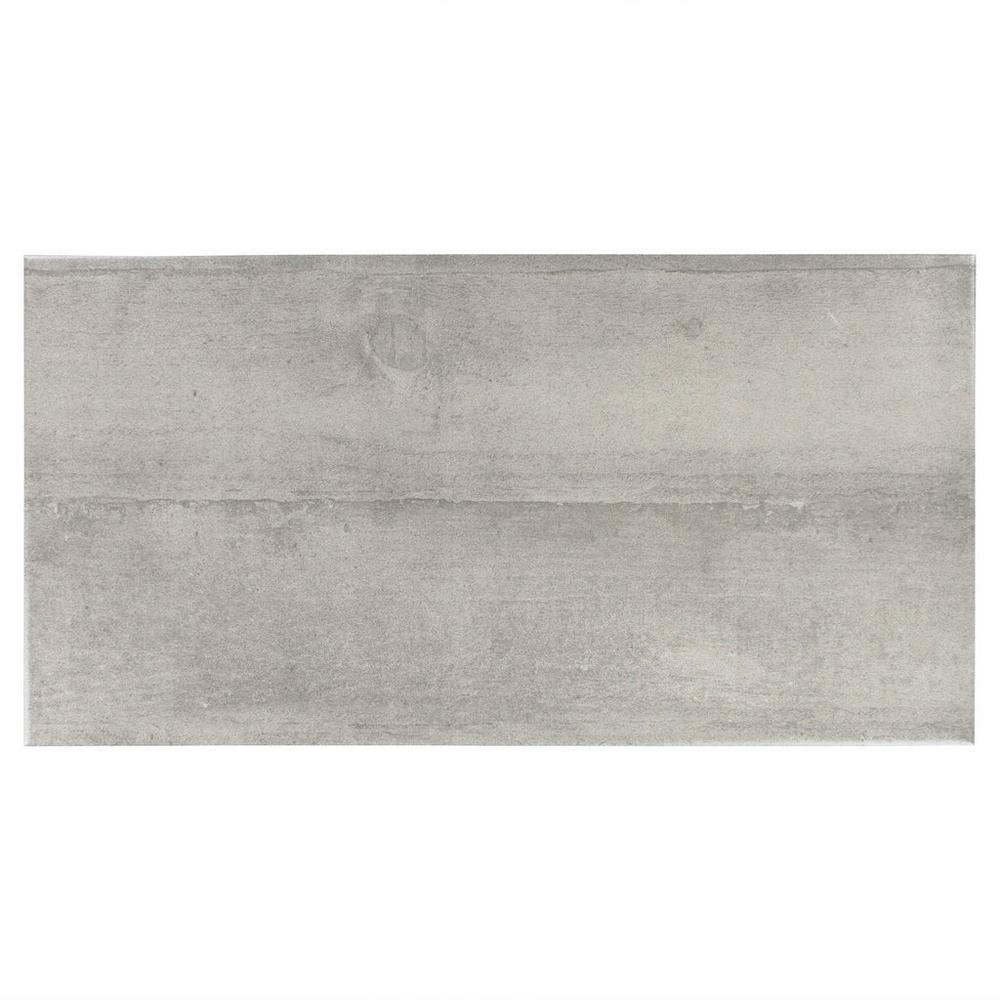 Floor Decor Concrete Grey Ceramic Tile 12 X 24 3 8 Inch Thick In 2020 Tiles Concrete Finishes Concrete