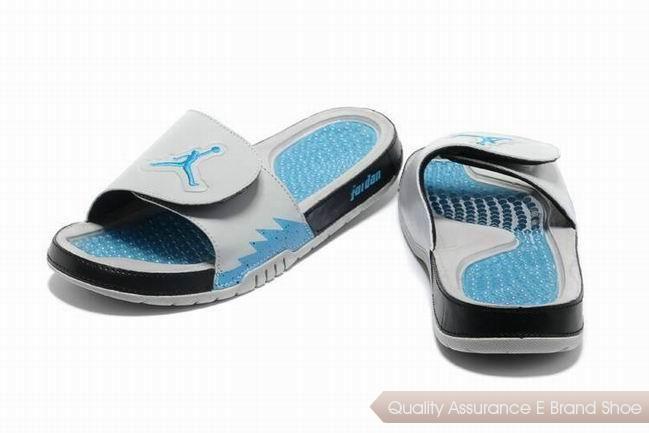 1002470ef01 nike air jordan hydro 5 slide sandals white black blue sneakers p 3601