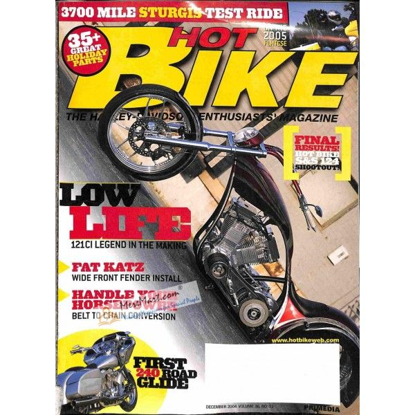 Hot Bike December 2004 Bike Magazine Hot Bikes