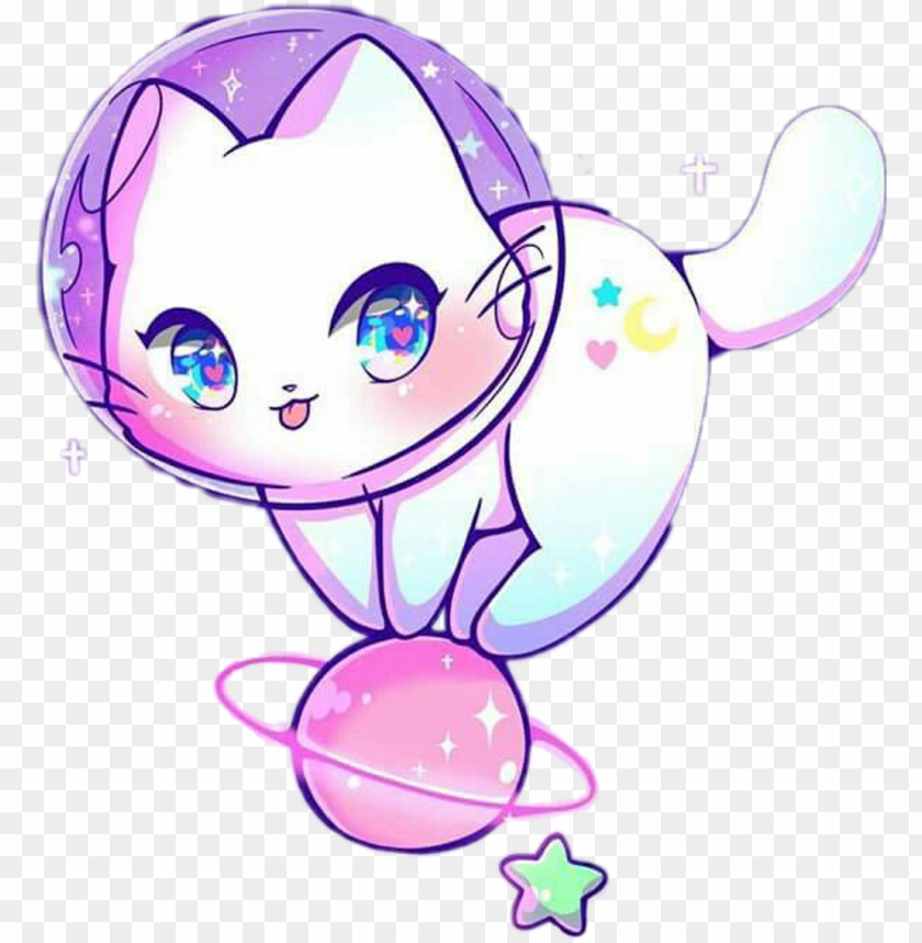 Kawaii Cat Neko Nya Space Astronaut Multicolor Cat In Space Drawi Png Image With Transparent Background Png Free Png Images Kawaii Cat Drawing Cute Animal Drawings Kawaii Cute Cartoon Drawings
