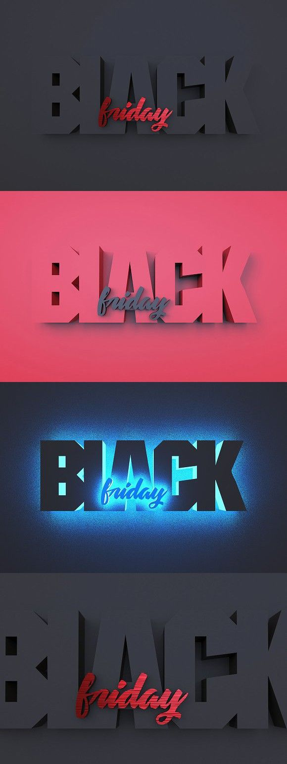39921aa1e 3 in 1 - 3D BLACK FRIDAY word