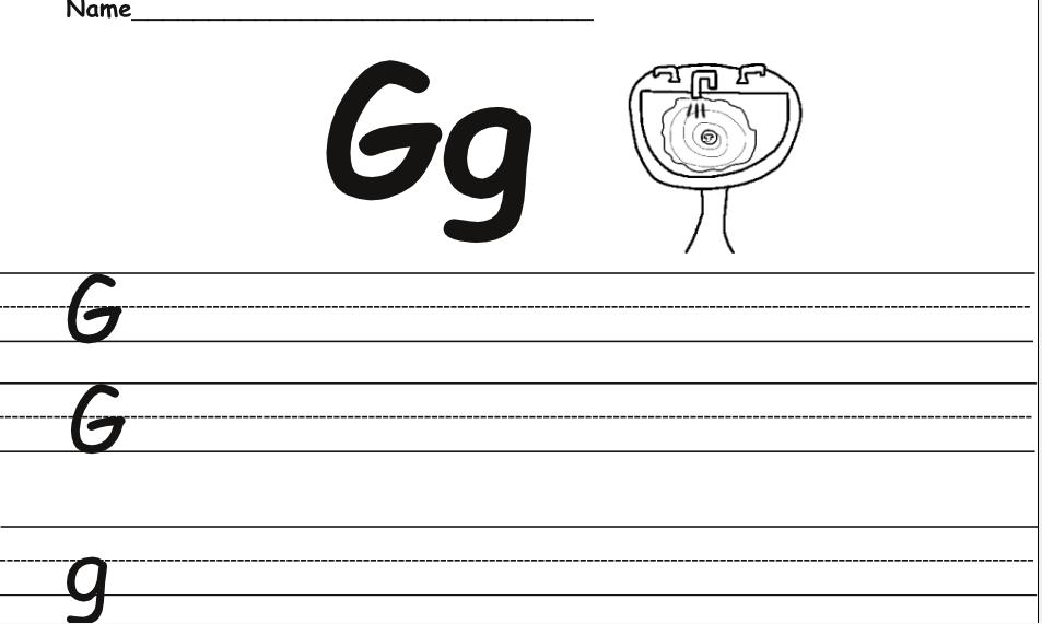 Example of the handwriting worksheet   Phonics instruction ...