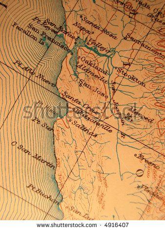 California Map Shutterstockcom.Stock Photo Antique Map 1916 Government Copyright Free Rich Paper
