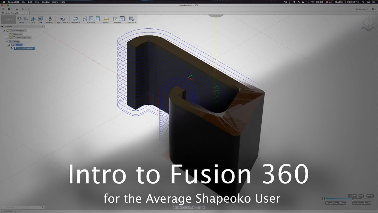 Fusion 360 Overview: 2D CAM Start to Finish - CNC Project