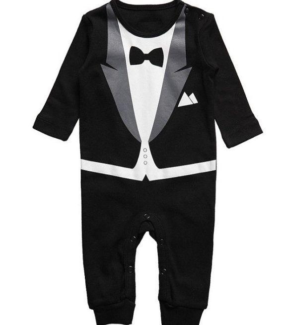248f03f50 Black tuxedo baby onesie pajamas by ForeverTots on Etsy, $21.99 ...