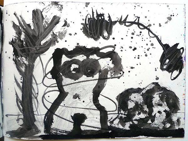 """SKETCHBOOK 11"""" x 8"""" by Sarah Rivkin, via Behance"""