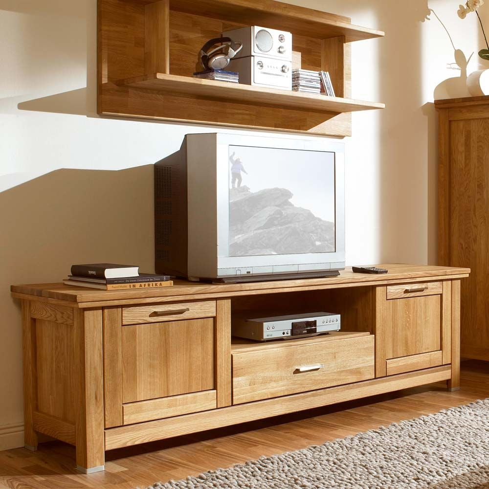 tv schrank aus eiche massivholz 210 cm jetzt bestellen unter. Black Bedroom Furniture Sets. Home Design Ideas