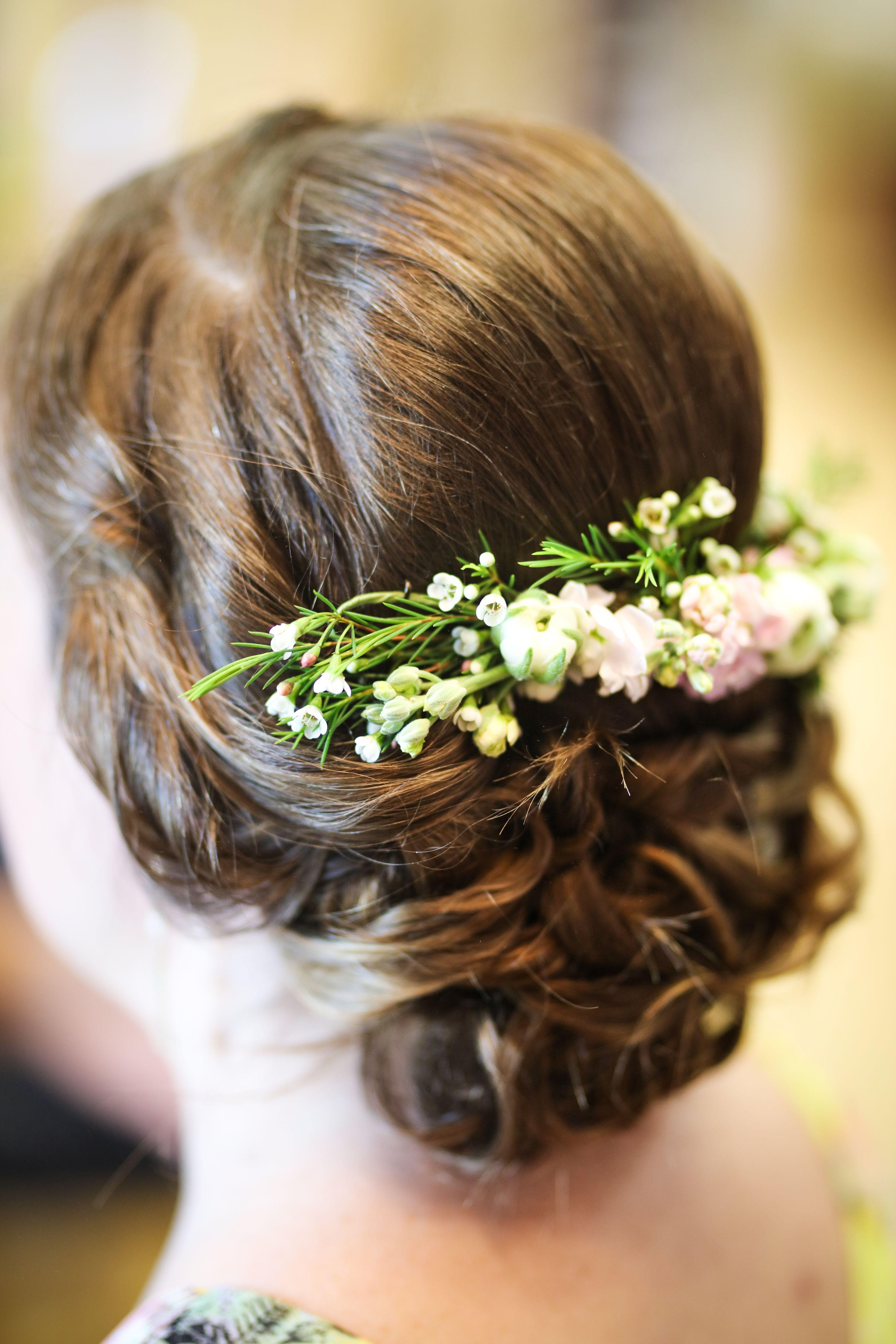 bridal hair, bridal updo, wedding hair inspiration, flower