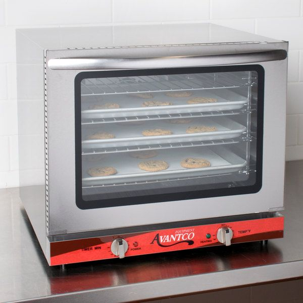 Avantco CO 28 Half Size Countertop Convection Oven 2 3 Cu