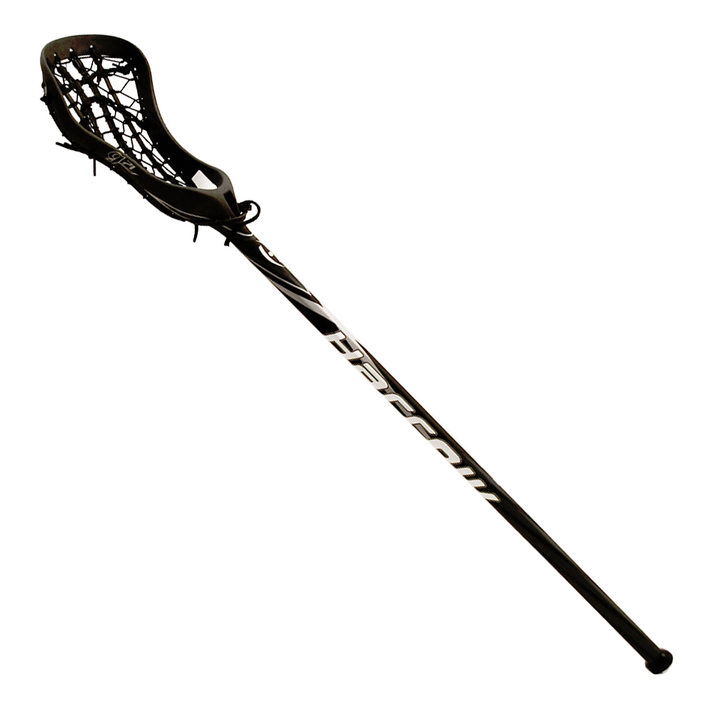 Harrow G71 One Piece Lacrosse Stick Strung Black Silver Lacrosse Sticks Black Silver Lacrosse