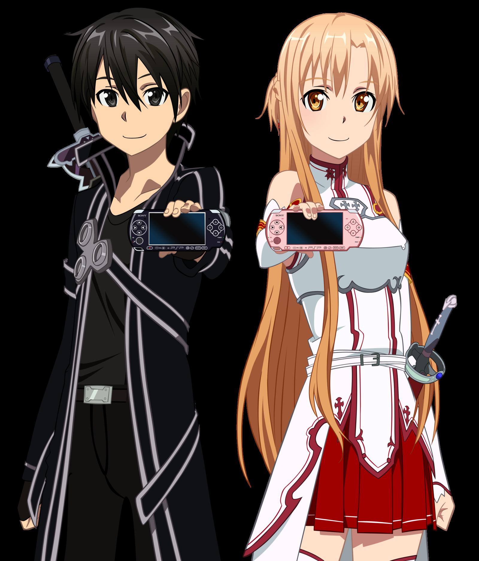 Kirito and Asuna Play Station Sword art, Sword art