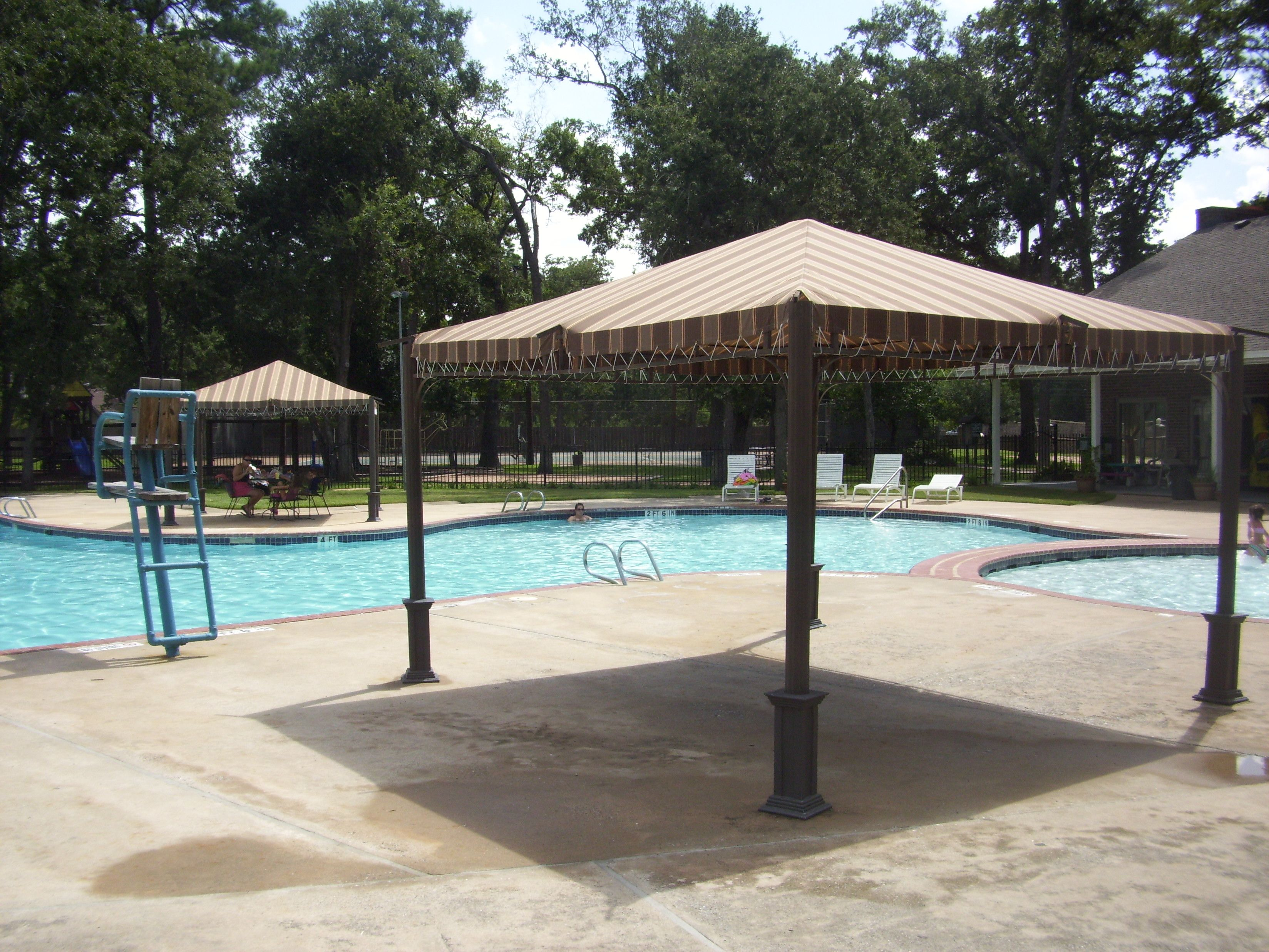 need shade after swimming? come hang out under our shade structure! #awnings #canopies #shadestructures